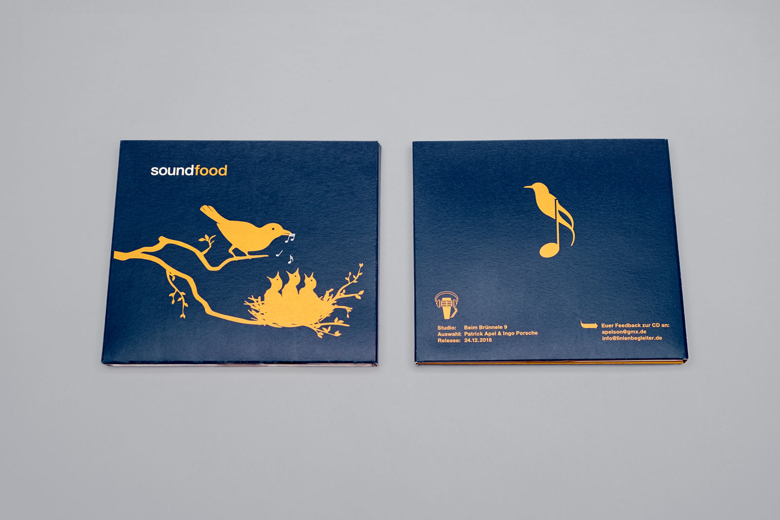 soundfood, Musik Compilation, CD Cover, Digi-Pack, Cover Artwork, Illustrationen, Cover, Vorder- und Rückseite