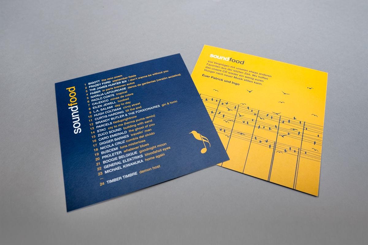 soundfood, Musik Compilation, Booklet, Illustrationen, Cover Artwork