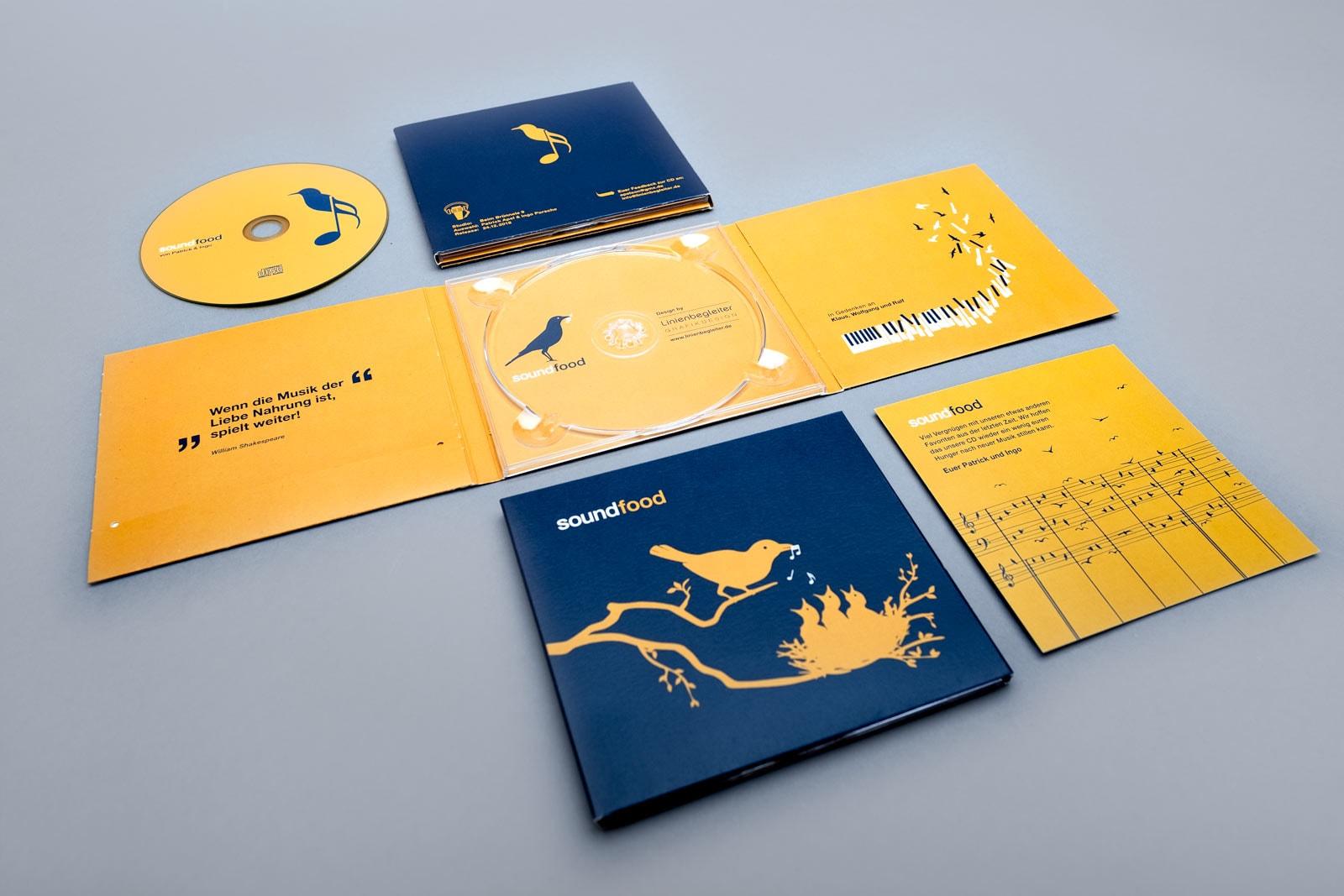 soundfood, Musik Compilation, CD Cover, Digi-Pack, Cover Artwork, Illustrationen, Booklet, CD-Label, Arrangement