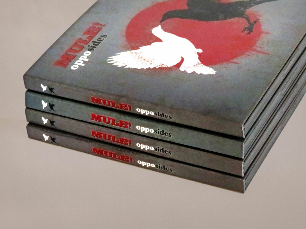 Mule!, opposides, CD-Rücken, CD Cover, Cover Artwork, Album Cover Design