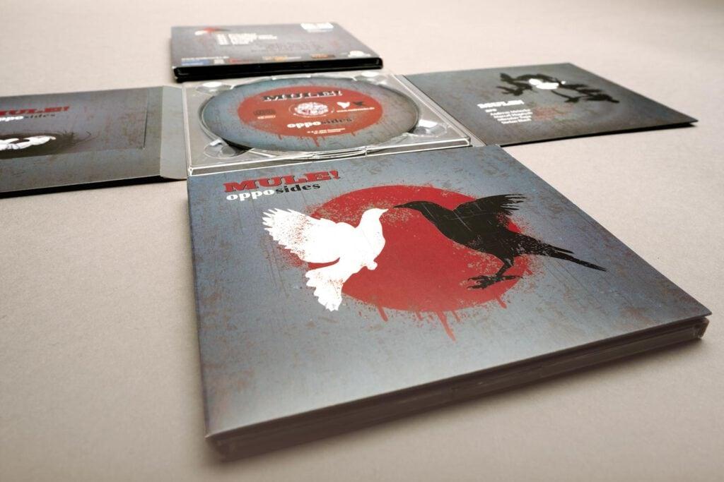 Mule!, opposides, Booklet, CD-Label, CD Cover, Cover Artwork, Album Cover Design, Perspektive Detail