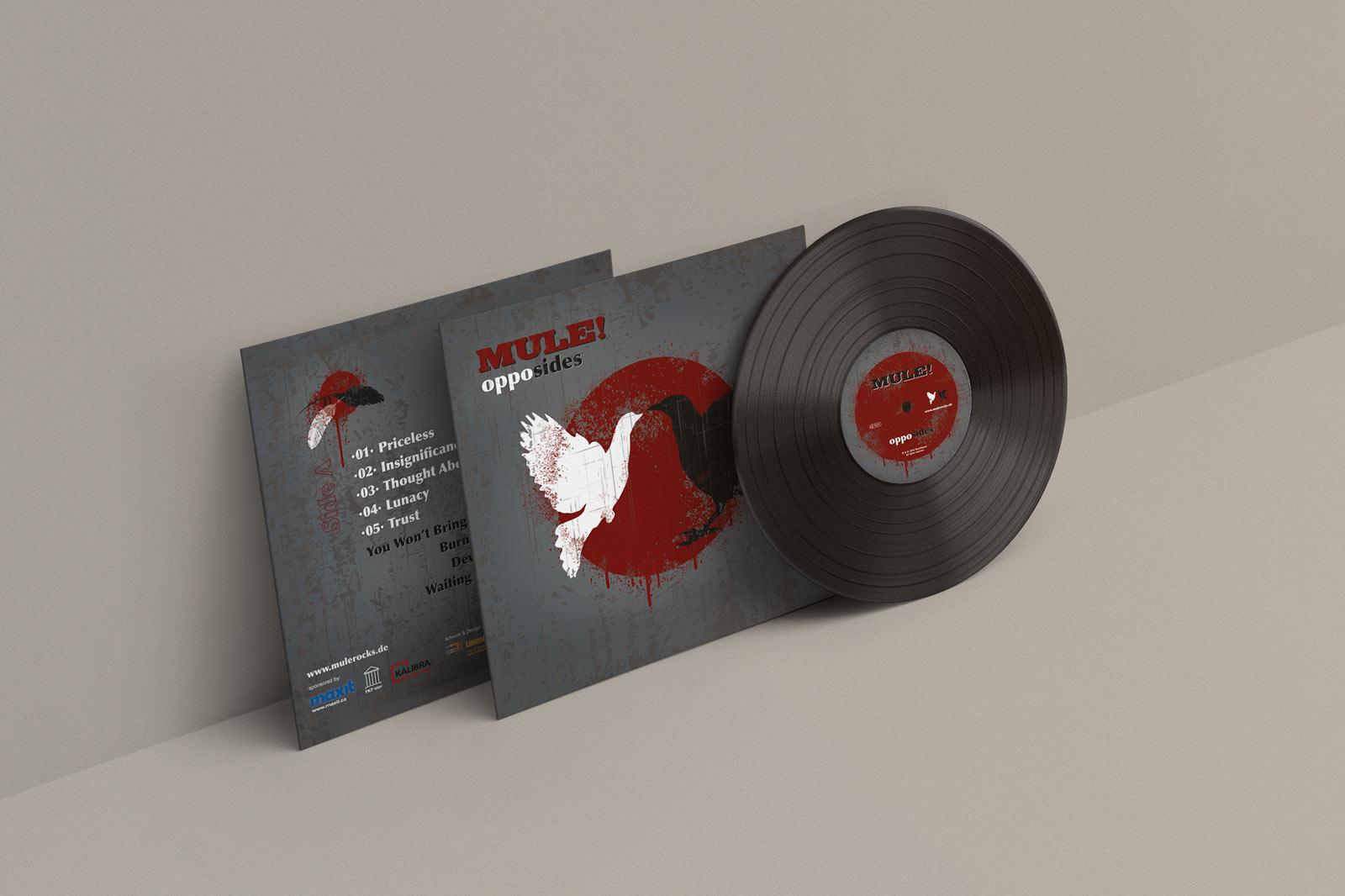 Mule!, opposides, Vinyl Cover, Cover Artwork, Vorder- und Rückseite