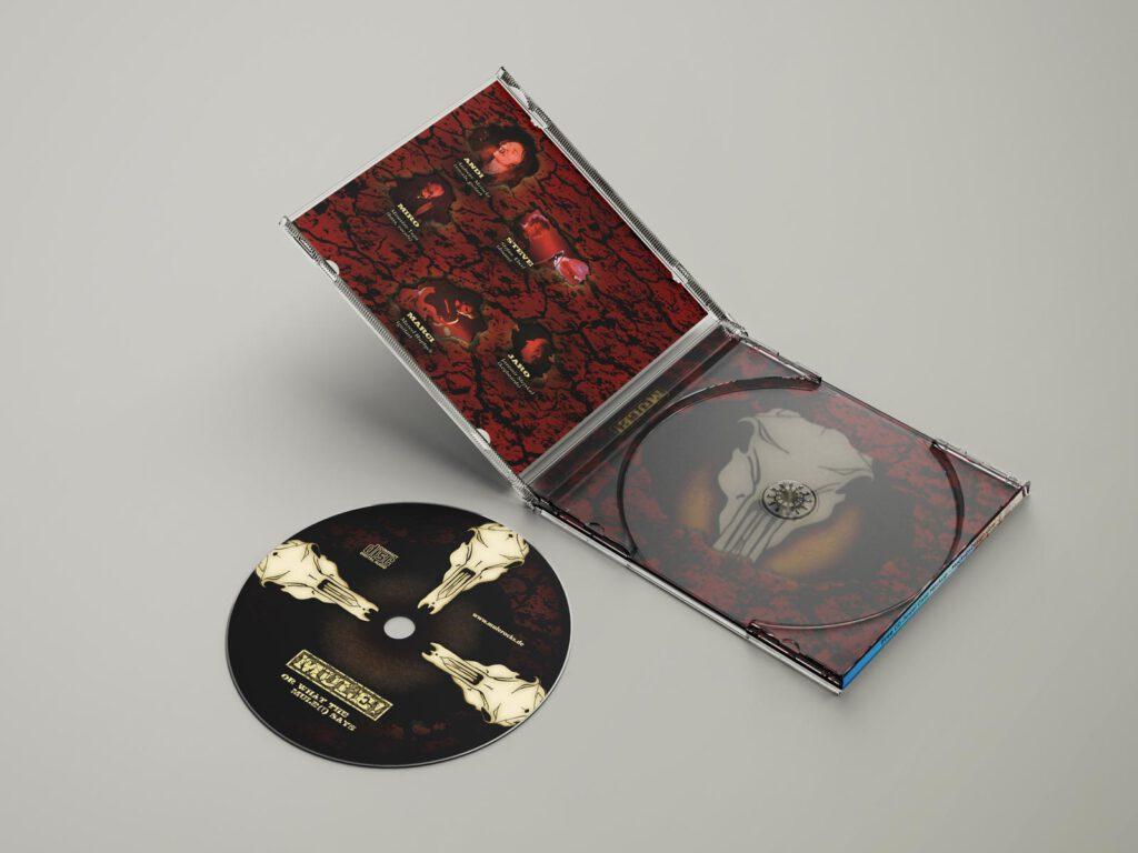 Mule!, 1st Album, CD-Label, CD Cover, Cover Artwork, Album Cover Design, Innenansicht, Perspektive