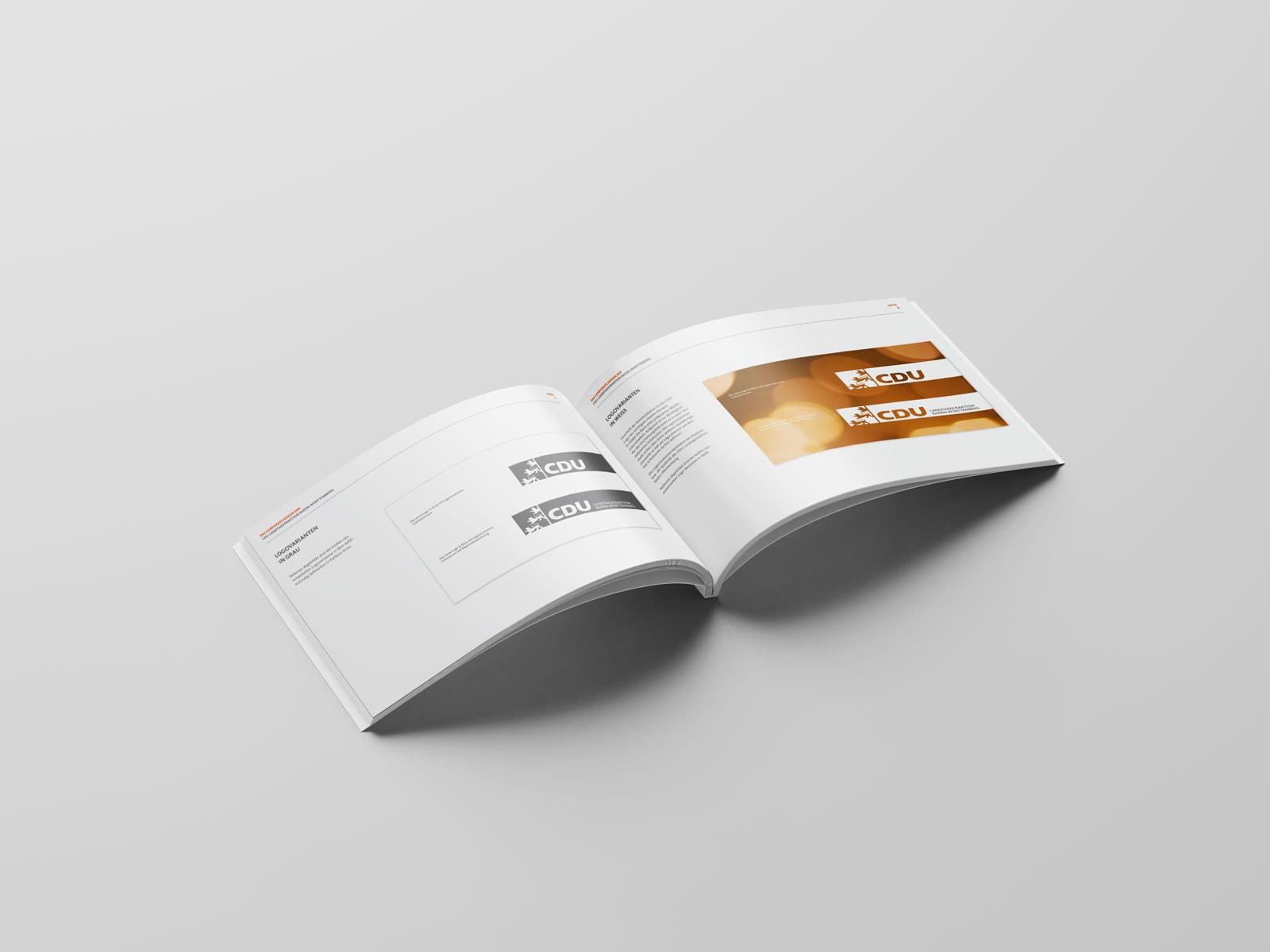 CDU_LF_BW, Styleguide, Corporate Design Relaunch, Redesign, Inhalt, Logo Versionen