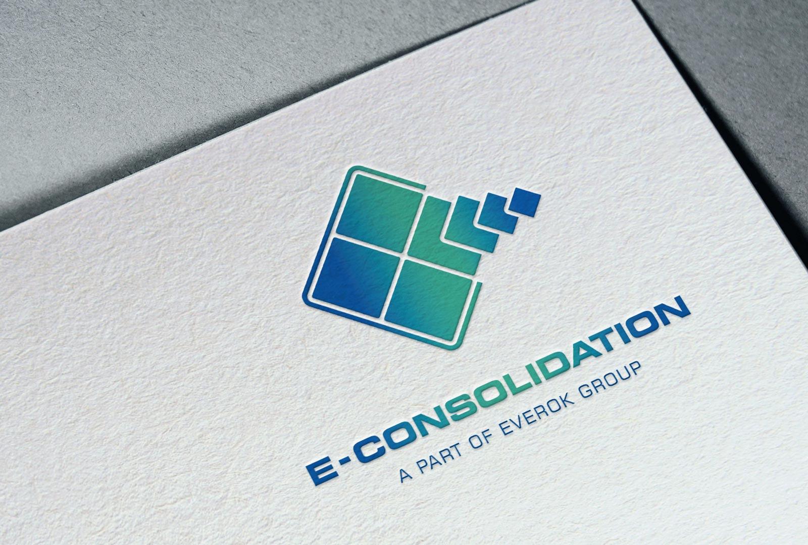 E-Consolidation, Visitenkarte, Detail