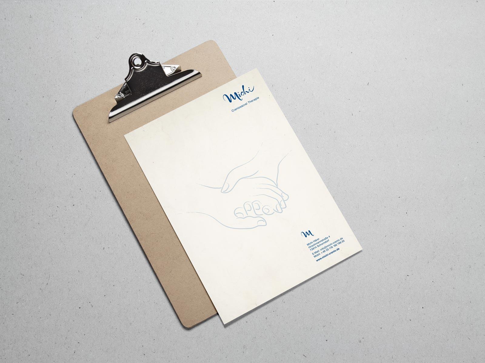 Michi, Briefpapier, Geschäftsausstattung, Corporate Design