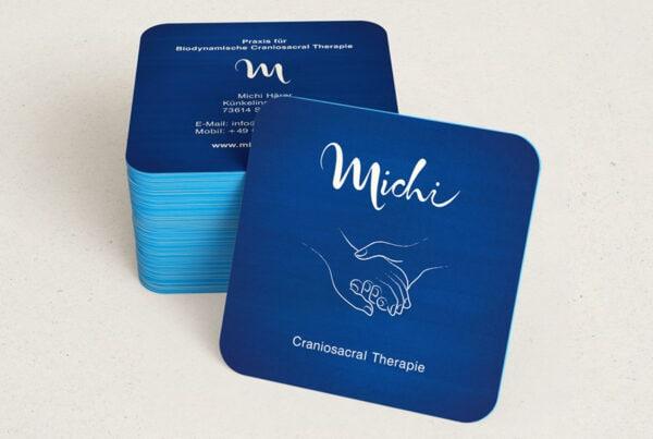 Michi, Craniosacral Therapie, Visitenkarte, Corporate Design,TN