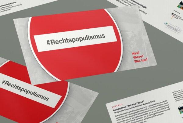 #Rechtspopulismus, Flyer, Werbemittel, Print, Printmedien, TN