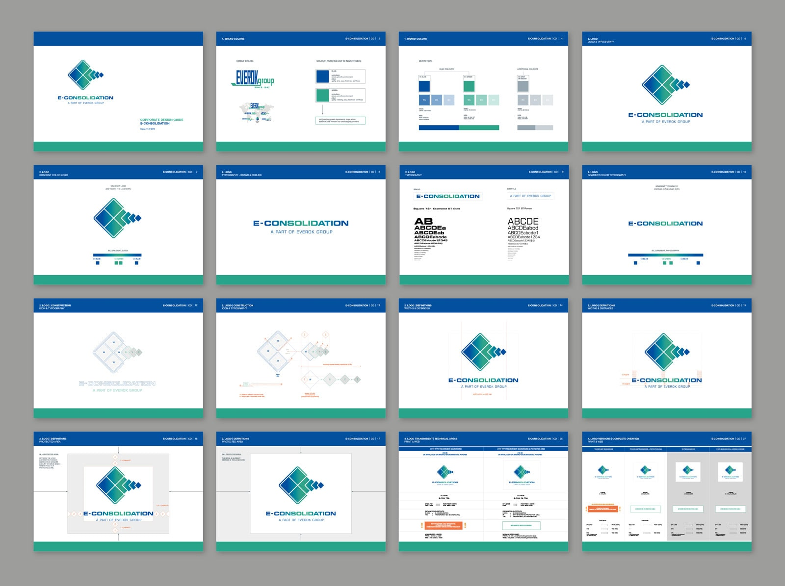 E-Consolidation, CD Guide, Styleguide, Richtlinien