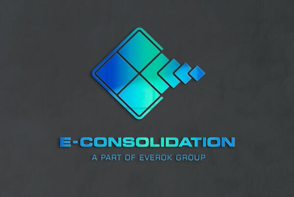 E-Consolidation, Logo, Logo Design, Corporate Design, Fond Grau, TN