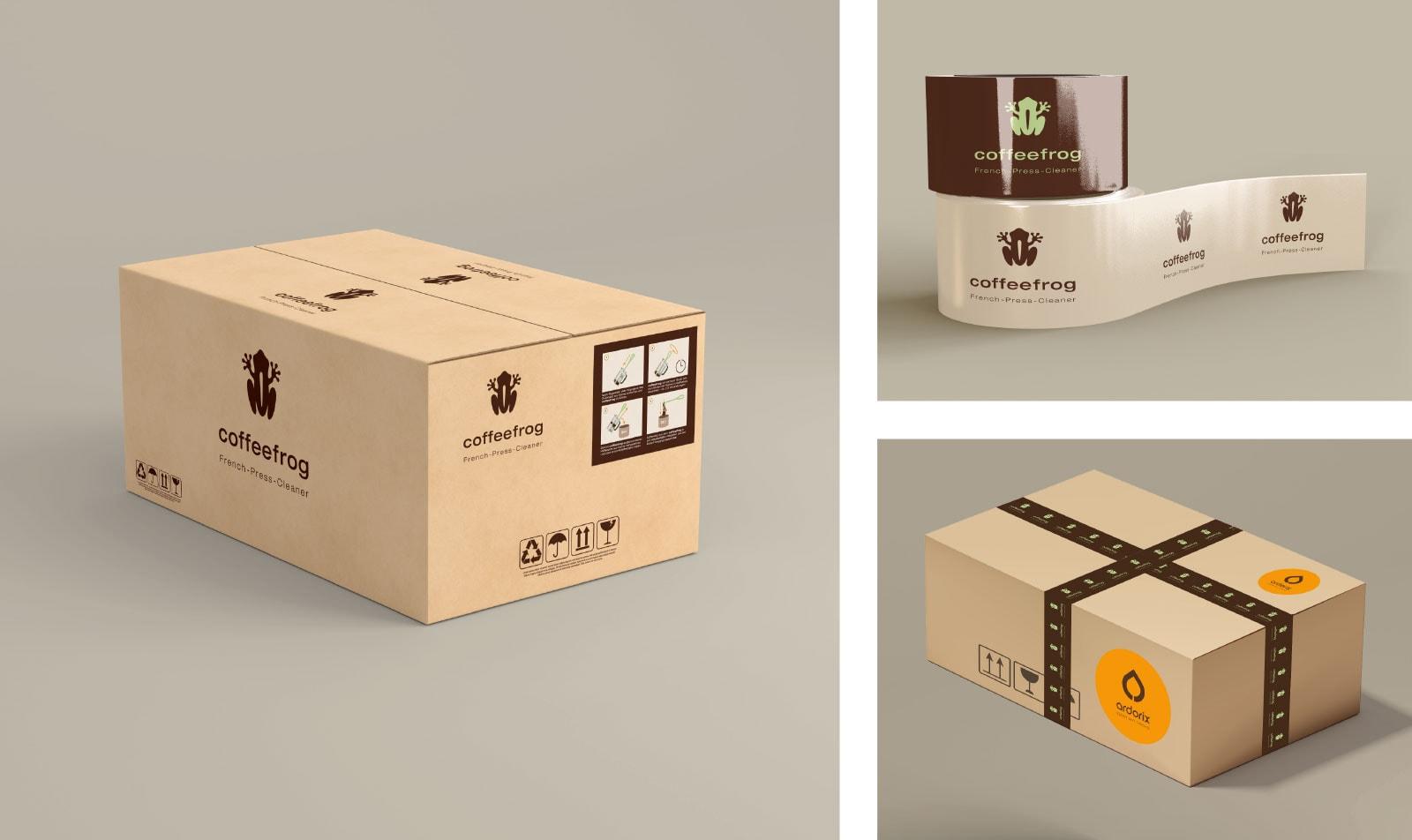 Coffeefrog, Versandmaterial, Versand, Packaging, Branding