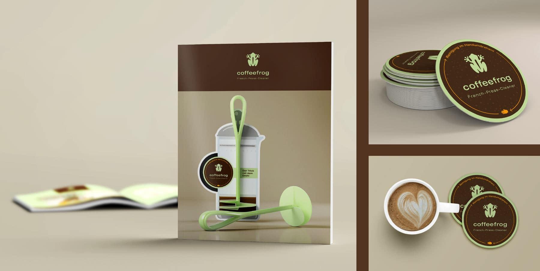 Coffeefrog, Image Broschüre, Collage Werbemittel, Werbung