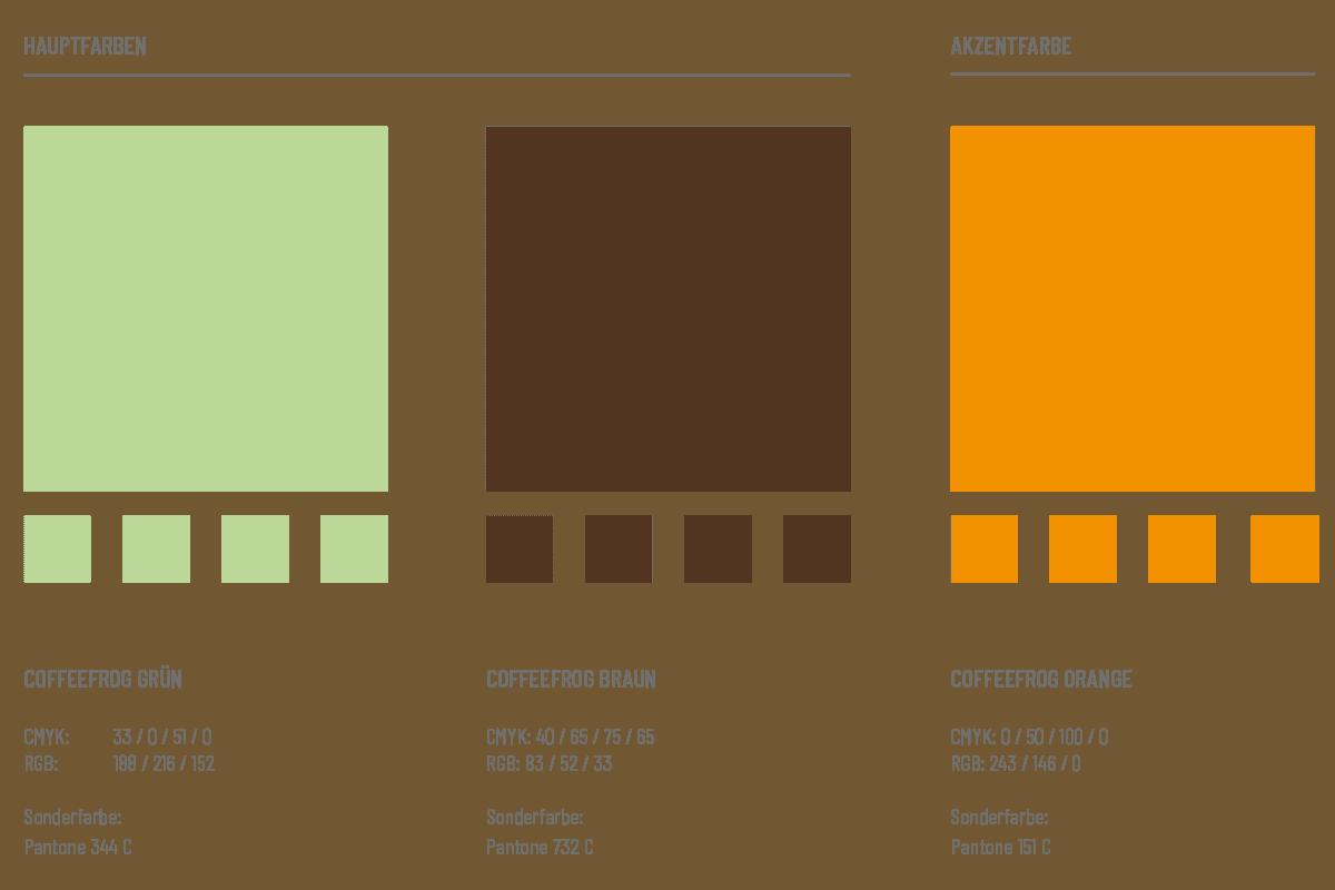 Coffeefrog, Farbwelt, Corporate Design, CI