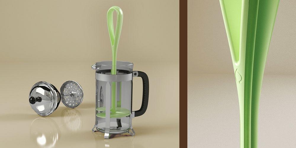 Coffeefrog, Produktdesign, Anwendung, Detail