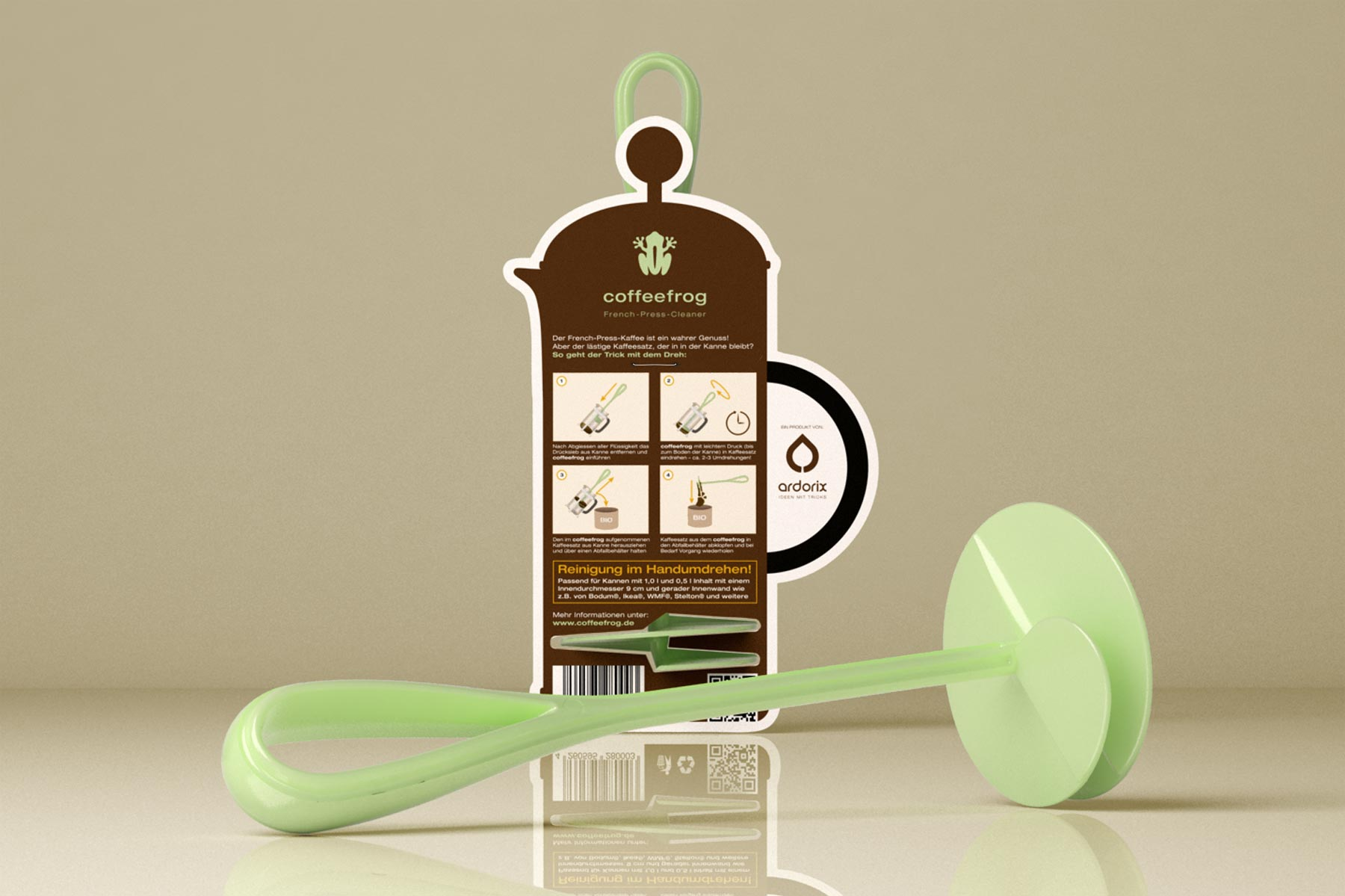 Coffeefrog, Produktverpackung, Packaging, Verpackungsdesign, Rückseite