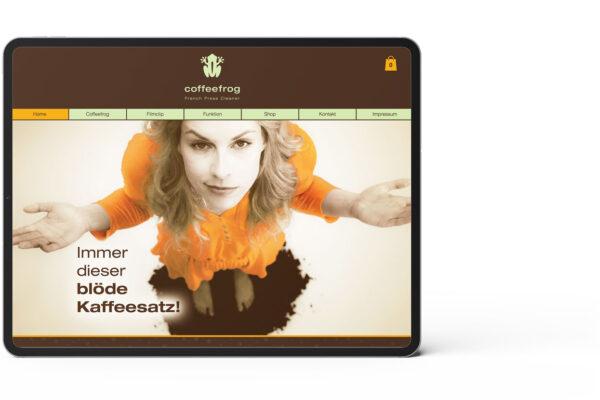 Coffefrog, Startseite, Webseite, Motiv 1