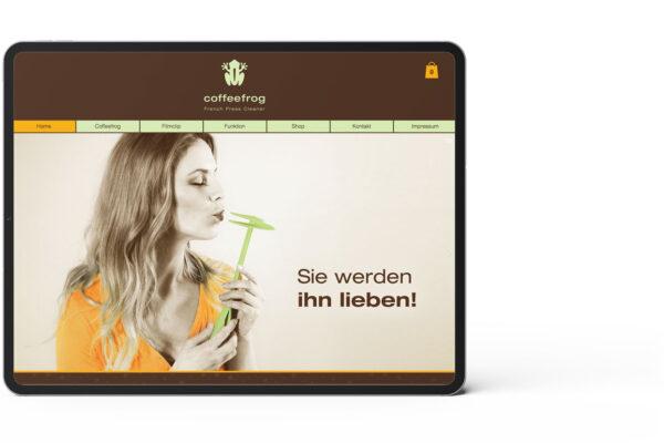 Coffefrog, Startseite, Webseite, Motiv 2
