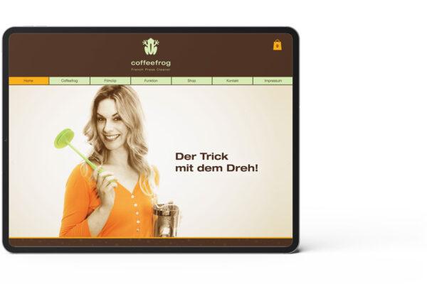 Coffefrog, Startseite, Webseite, Motiv 3