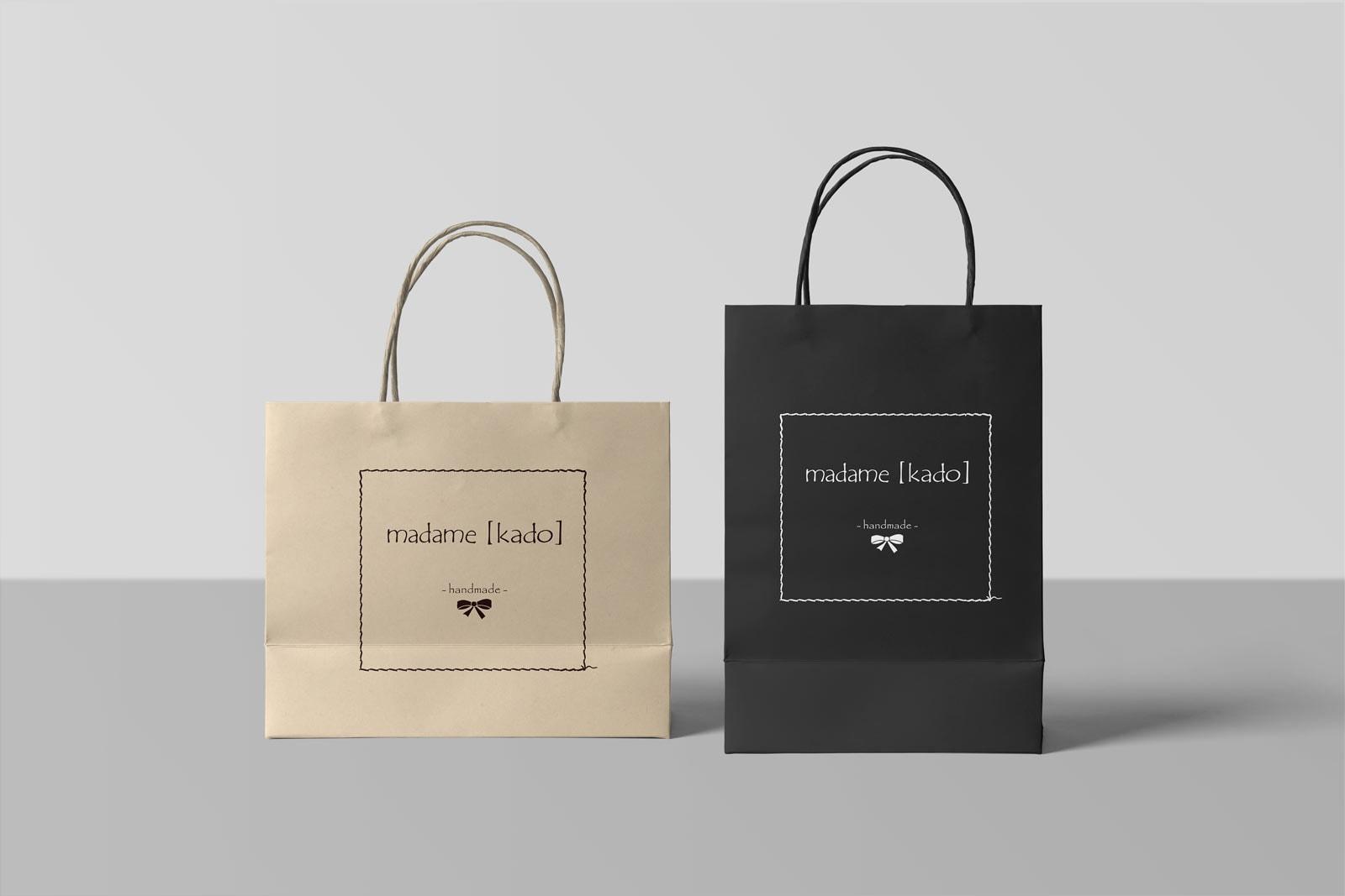 madame kado, Papiertaschen, Branding, Retail Design