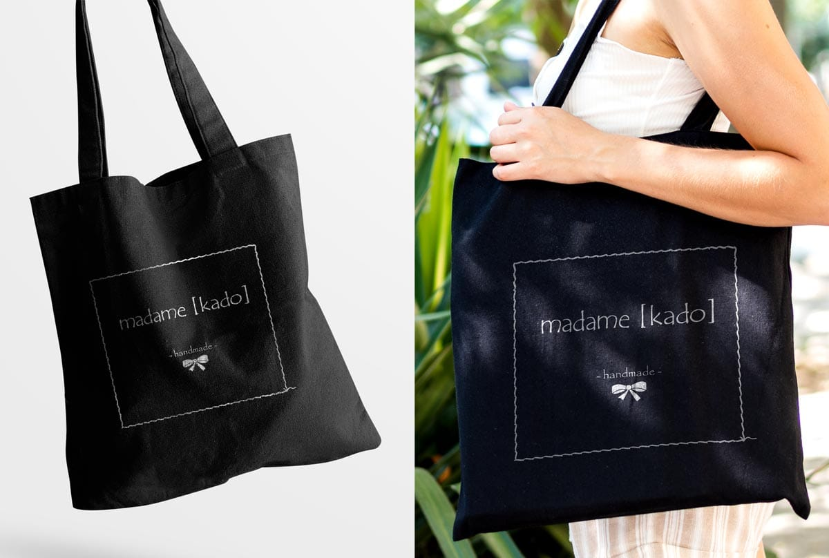 madame kado, Baumwolltasche, Branding, Retail Design