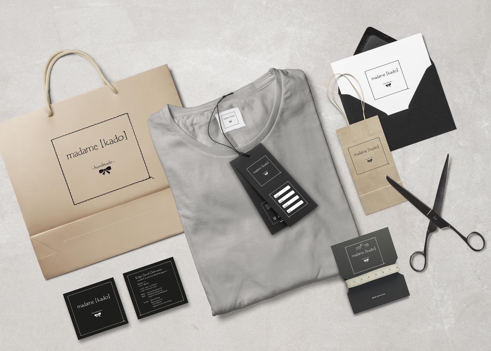 madame kado, Geschäftsausstattung, Stationary, Branding, Retail Design
