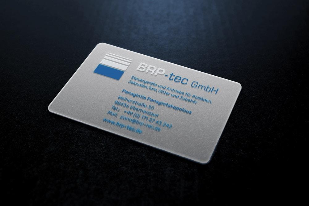 BRP-tec, Visitenkarte, transparent, Corporate Design