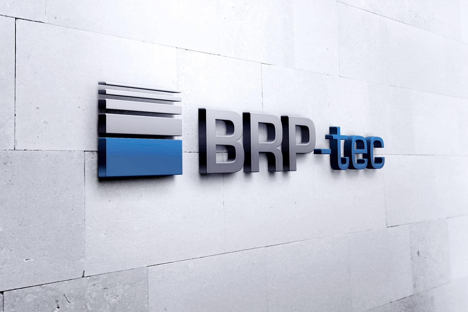 BRP-tec, Firmenschild, 3D-Buchstaben
