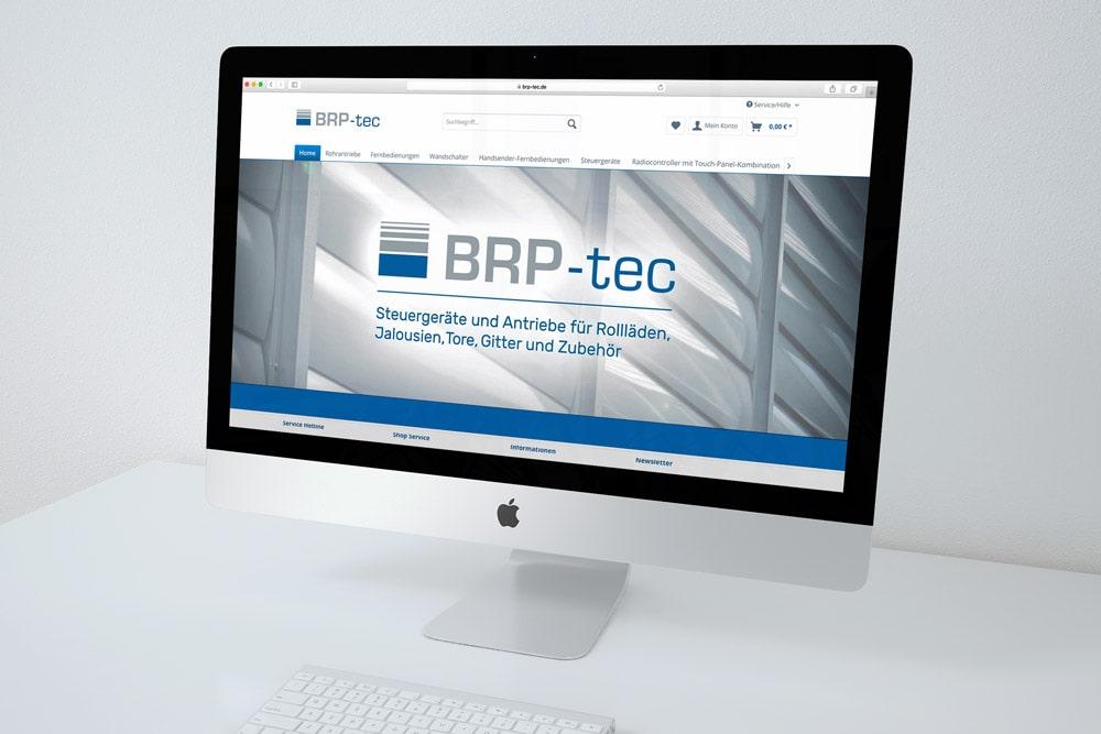 BRP-tec, Webseite, Startseite, Ansicht Mac