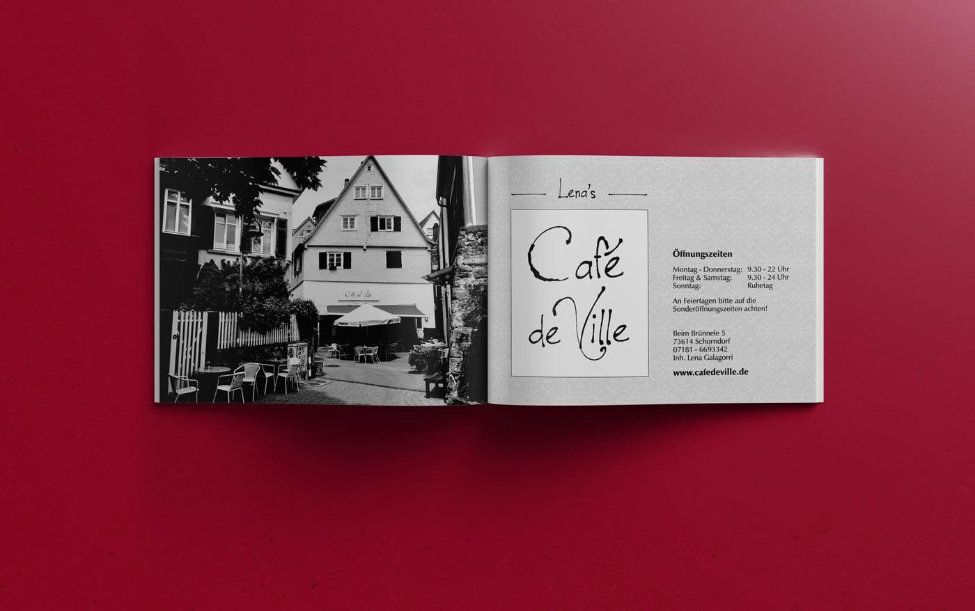 Café de Ville, Anzeige, SW, Werbemittel