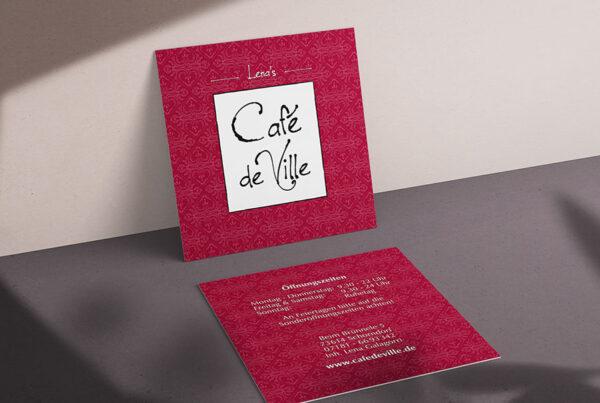 Café de Ville, Visitenkarte, Geschäftsausstattung, VS-RS