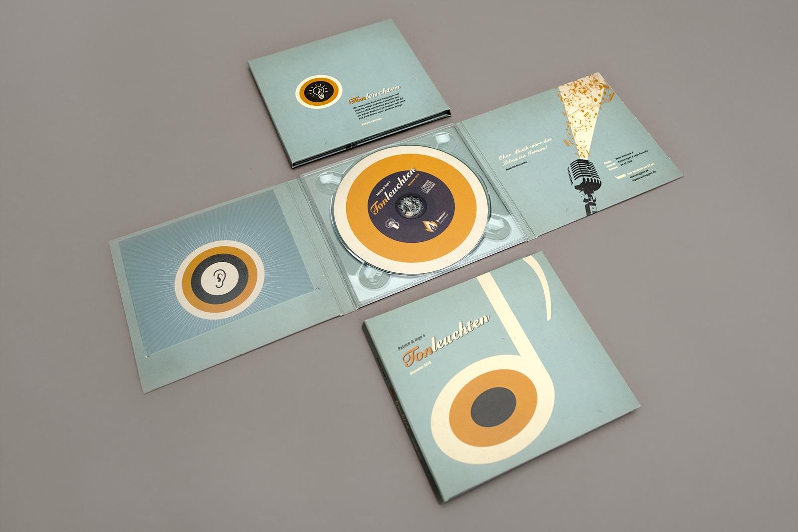 Tonleuchten, Compilation, CD Cover, Booklet, CD-Label, Cover Artwork, Arrangement