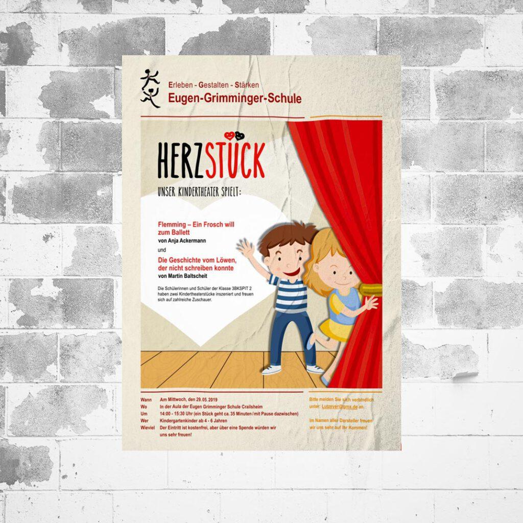 Herzstück, Plakat, Werbemittel