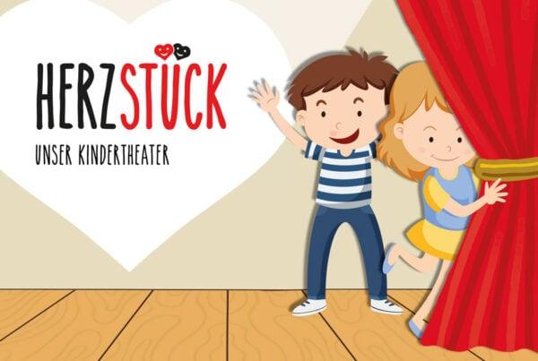 Herzstück - das Kindertheater, Konzeption, Erscheinungsbild, Logo Design, TN