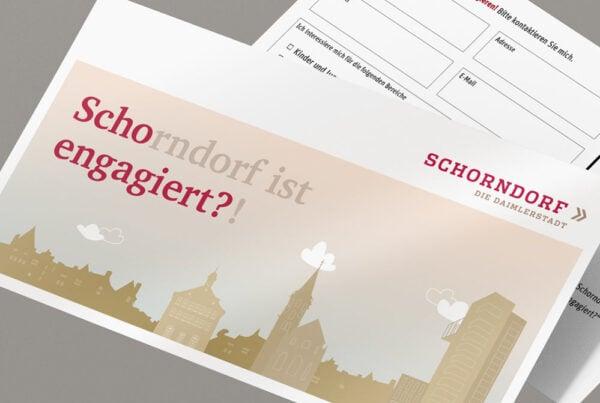 Scho-engagiert, Konzept, Maxi-Postkarte, Werbemittel, Detail Ansicht