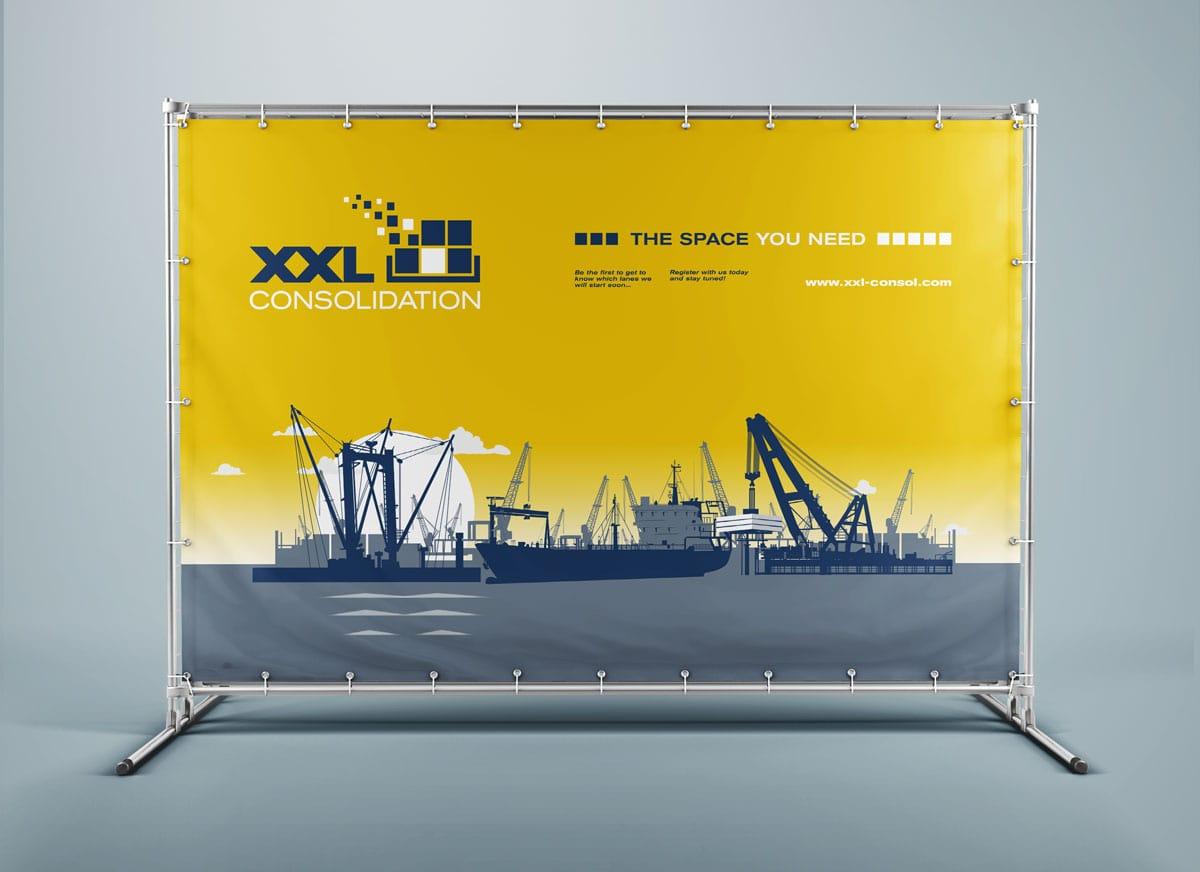 XXL Consolidation, Werbebanner, Kampagne, Werbemittel