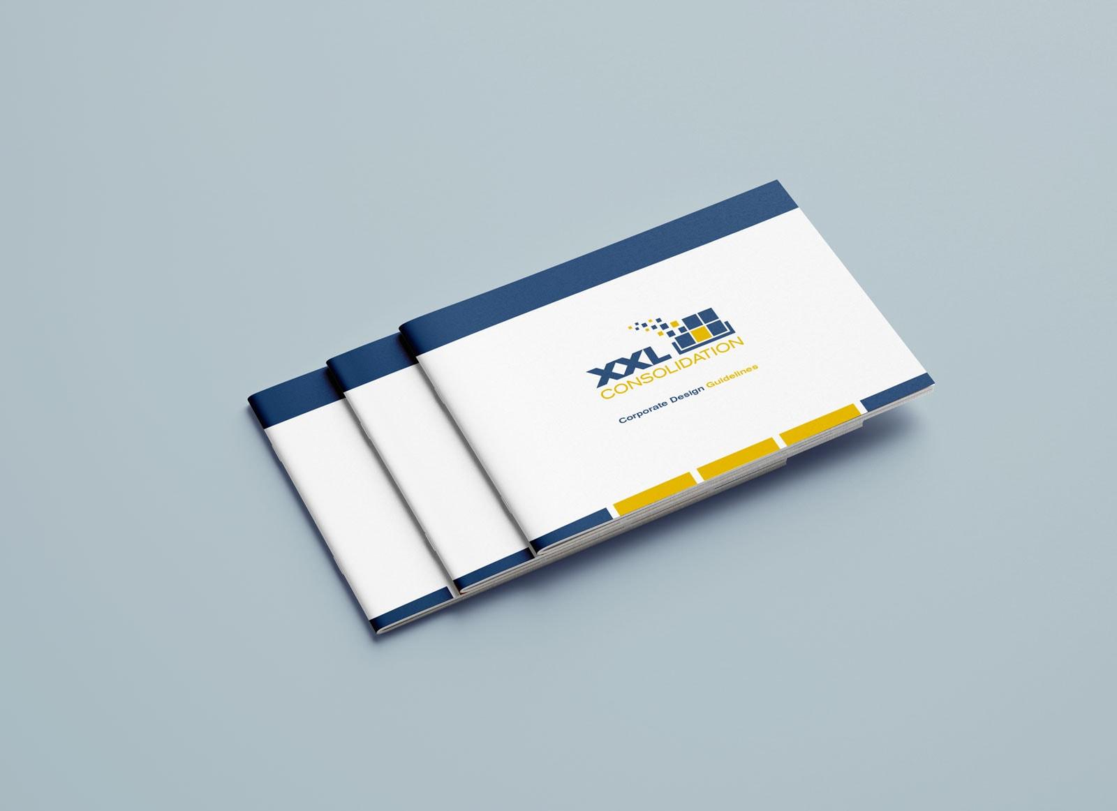 XXL Consolidation, Corporate Design Guide, Styleguide, Vorderseiten