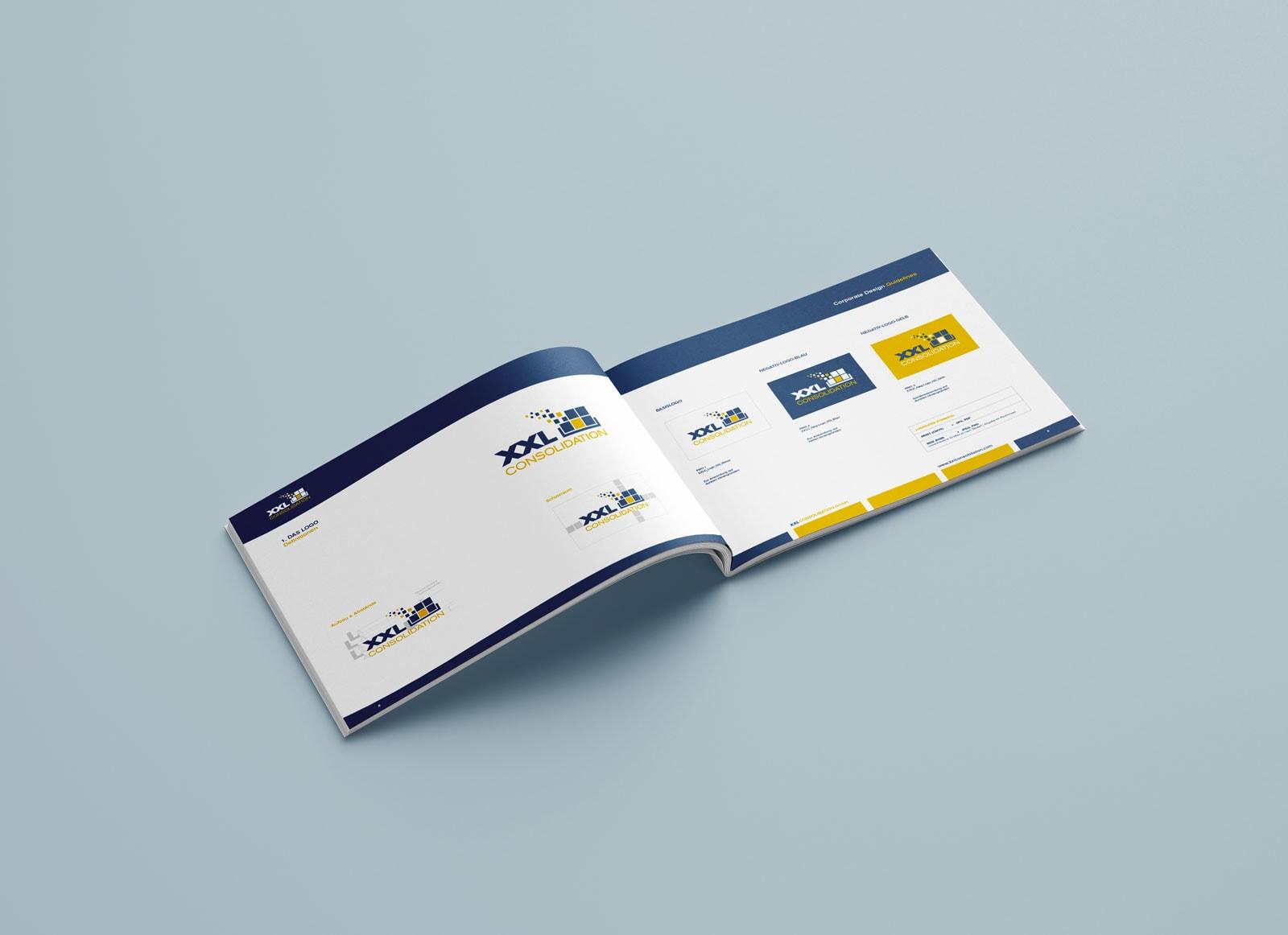 XXL Consolidation, Corporate Design Guide, Styleguide, Inhalt-3