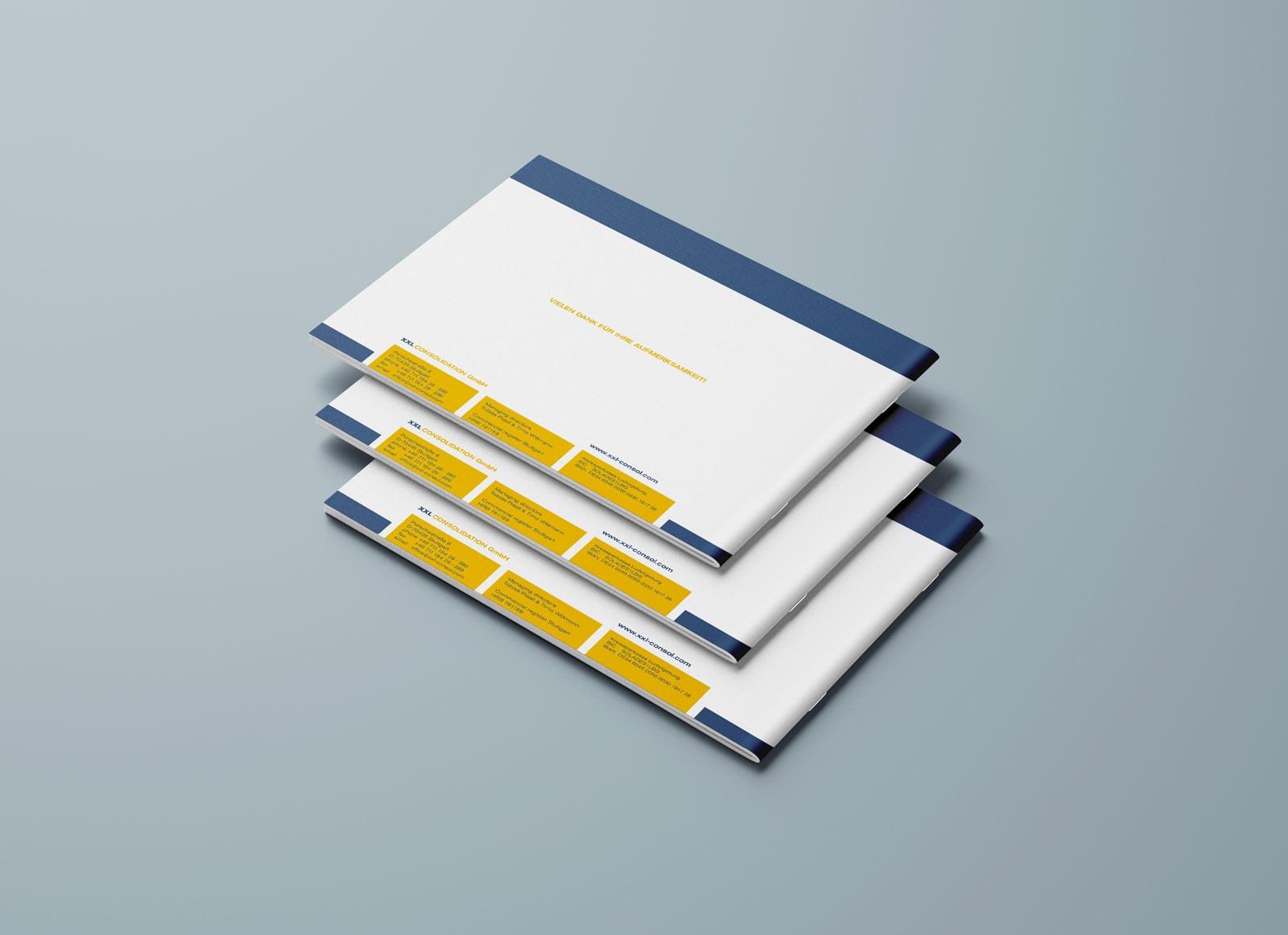 XXL Consolidation, Corporate Design Guide, Styleguide, Rückseiten