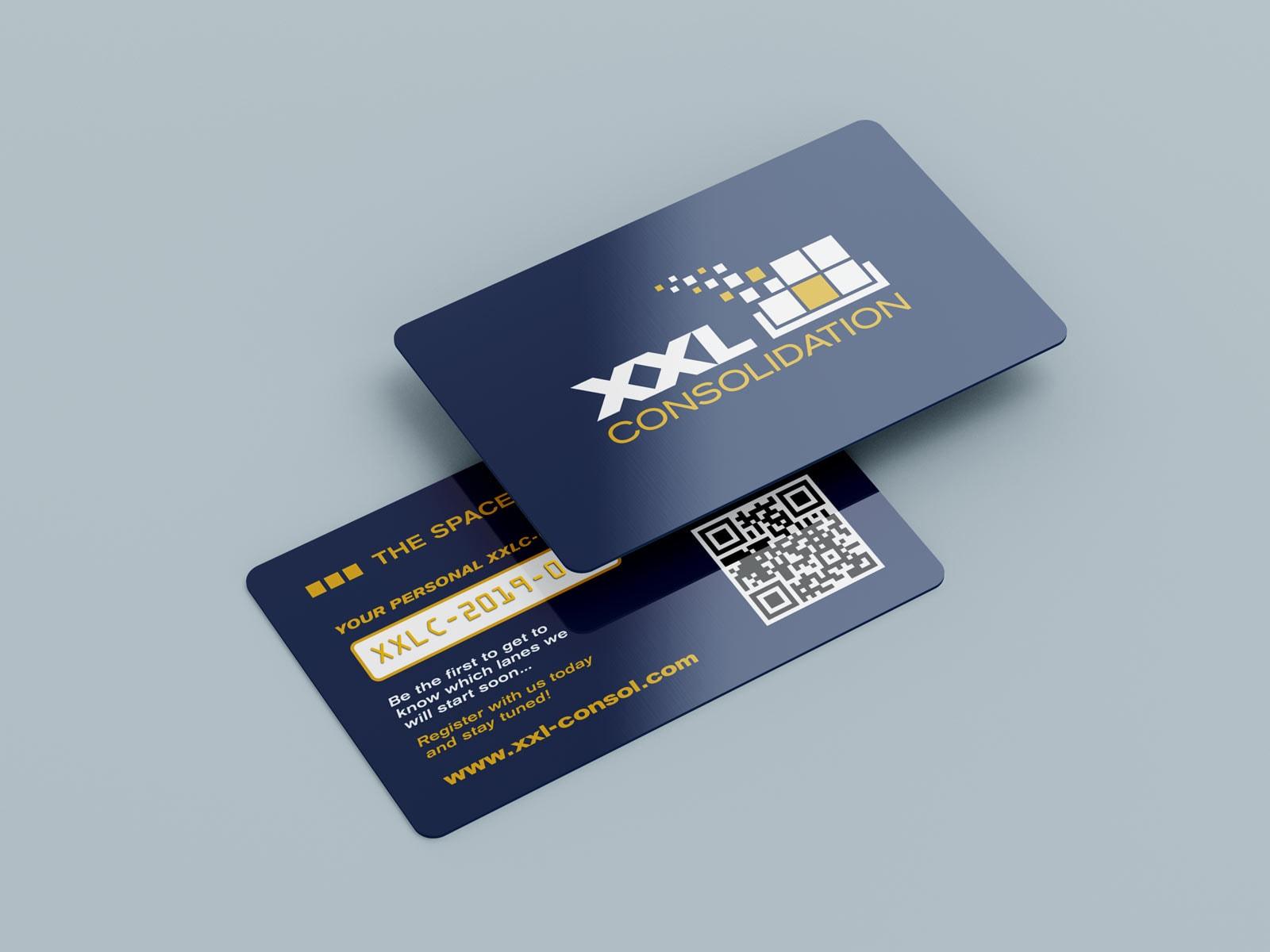 XXL-C, personalisierte Kunstoff-Karte, Messebedarf, Werbemittel, Ansicht 1