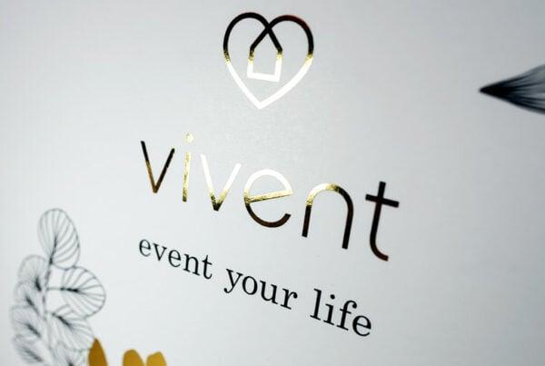 Vivent, Heißfolie Gold, Detail, TN