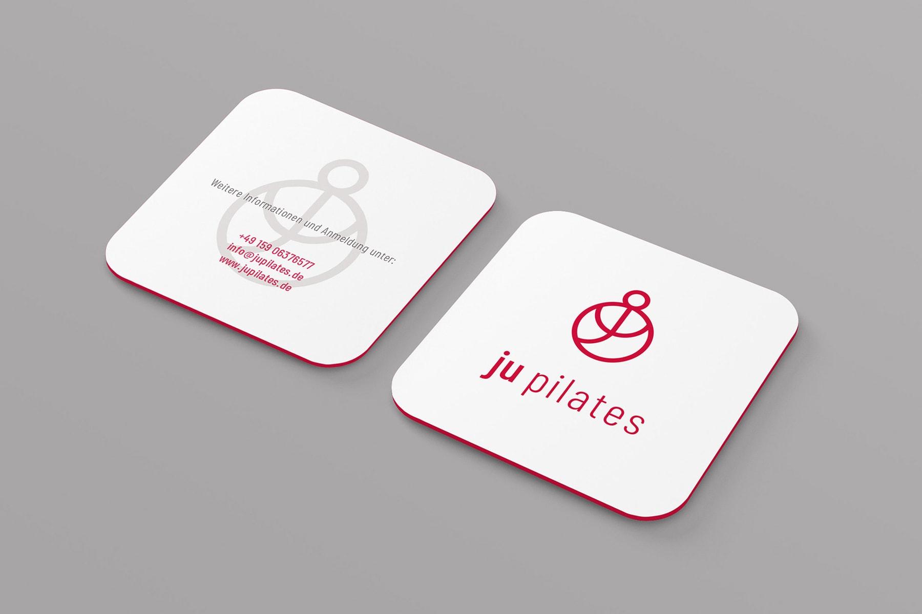 Ju Pilates, Visitenkarte, Geschäftsausstattung